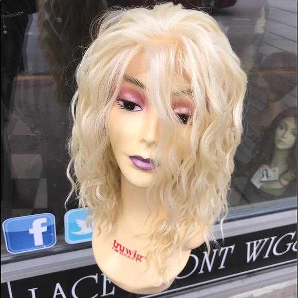 Accessories - Blonde 613 curly wavy wig Lacefront 14-16 Long Wig